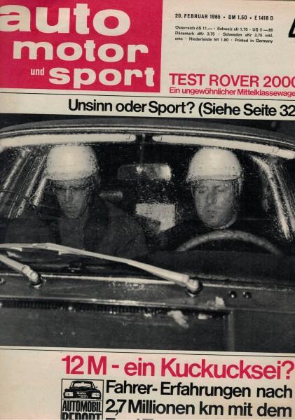 Auto Motor und Sport 1965 Heft 04-20.02.1965