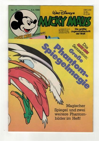 Micky Maus 1986 Nr. 15 / 05.04.1986