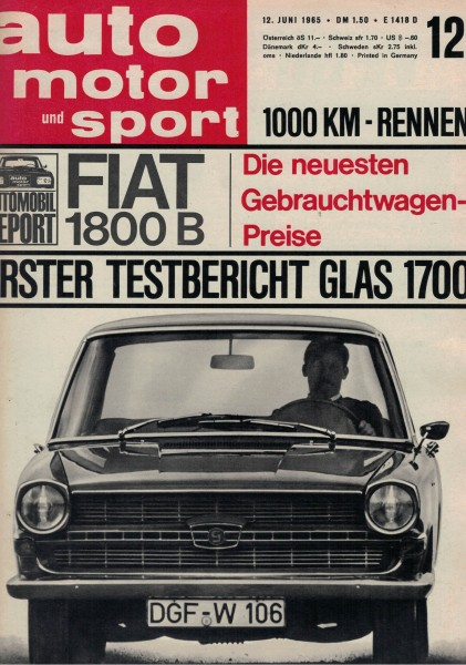 Auto Motor und Sport 1965 Heft 12-12.06.1965