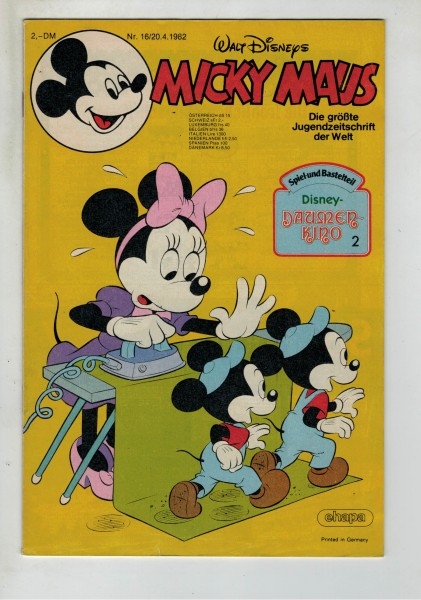 Micky Maus 1982 Nr. 16 / 20.04.1982