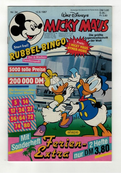 Micky Maus 1987 Nr. 34 / 12.08.1987