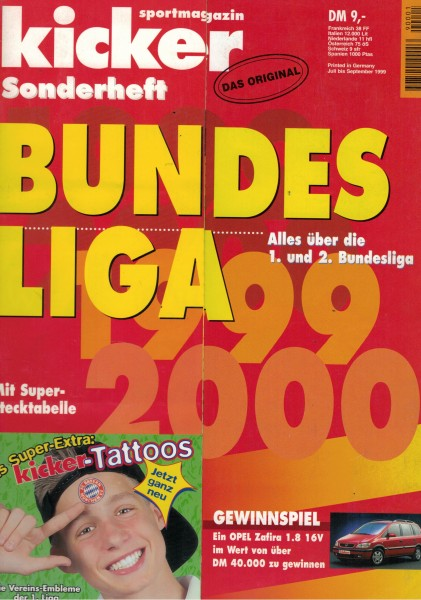 Kicker Sonderheft Bundesliga 1999/00