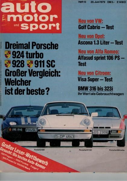 Auto Motor und Sport 1979 Heft 13-20.06.1979