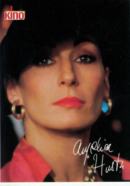 Kino-Autogrammkarte - Anjelica Huston