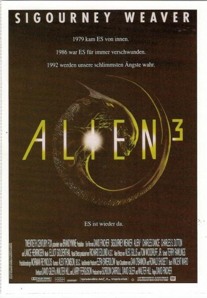 "Cinema Filmkarte ""Alien 3"""