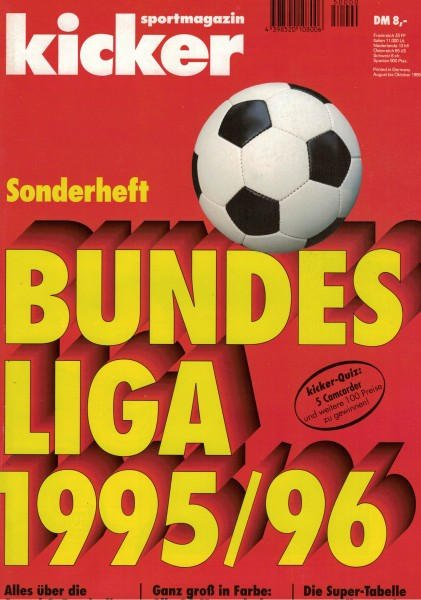 Kicker Sonderheft Bundesliga 1995/96