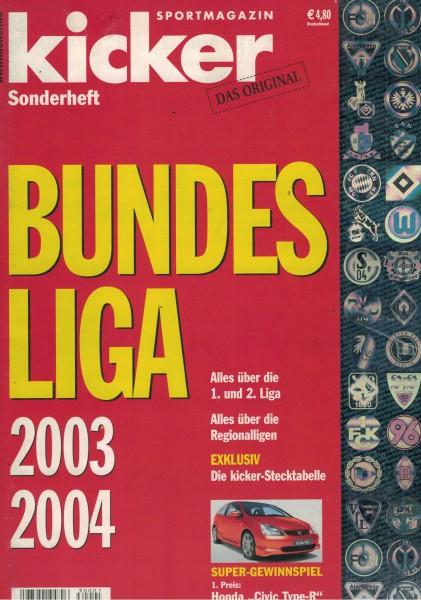 Kicker Sonderheft Bundesliga 2003/04