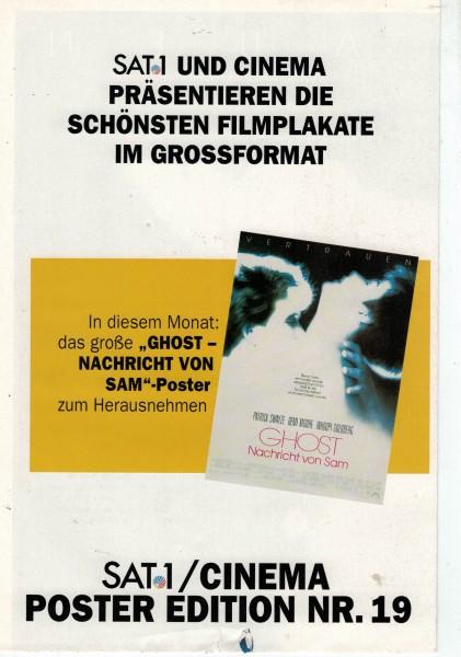 Cinema Poster Edition Nr. 19 - Ghost - Nachricht von Sam
