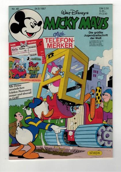 Micky Maus 1987 Nr. 40 / 24.09.1987