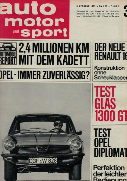 Auto Motor und Sport 1965 Heft 03-06.02.1965