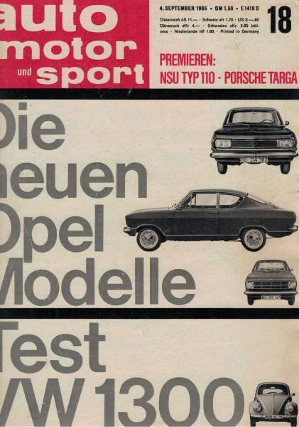 Auto Motor und Sport 1965 Heft 18-04.09.1965